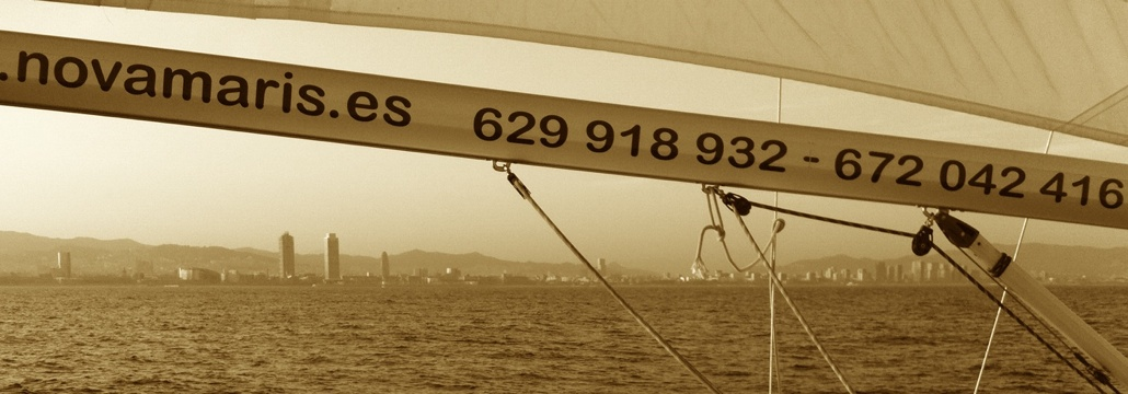 Enjoy the Barcelona skyline from a sailboat
